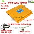 ЖК-дисплей 2 Г GSM 900 МГц 900 мГц Мобильный Телефон Сотовый Телефон Усилитель сигнала Повторитель усилитель 65db 1000sq с антенна