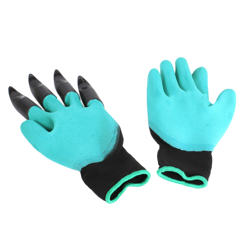 2017 Hot Sale 1 pair New Gardening Gloves for garden Digging Planting with Plastic Claws ...