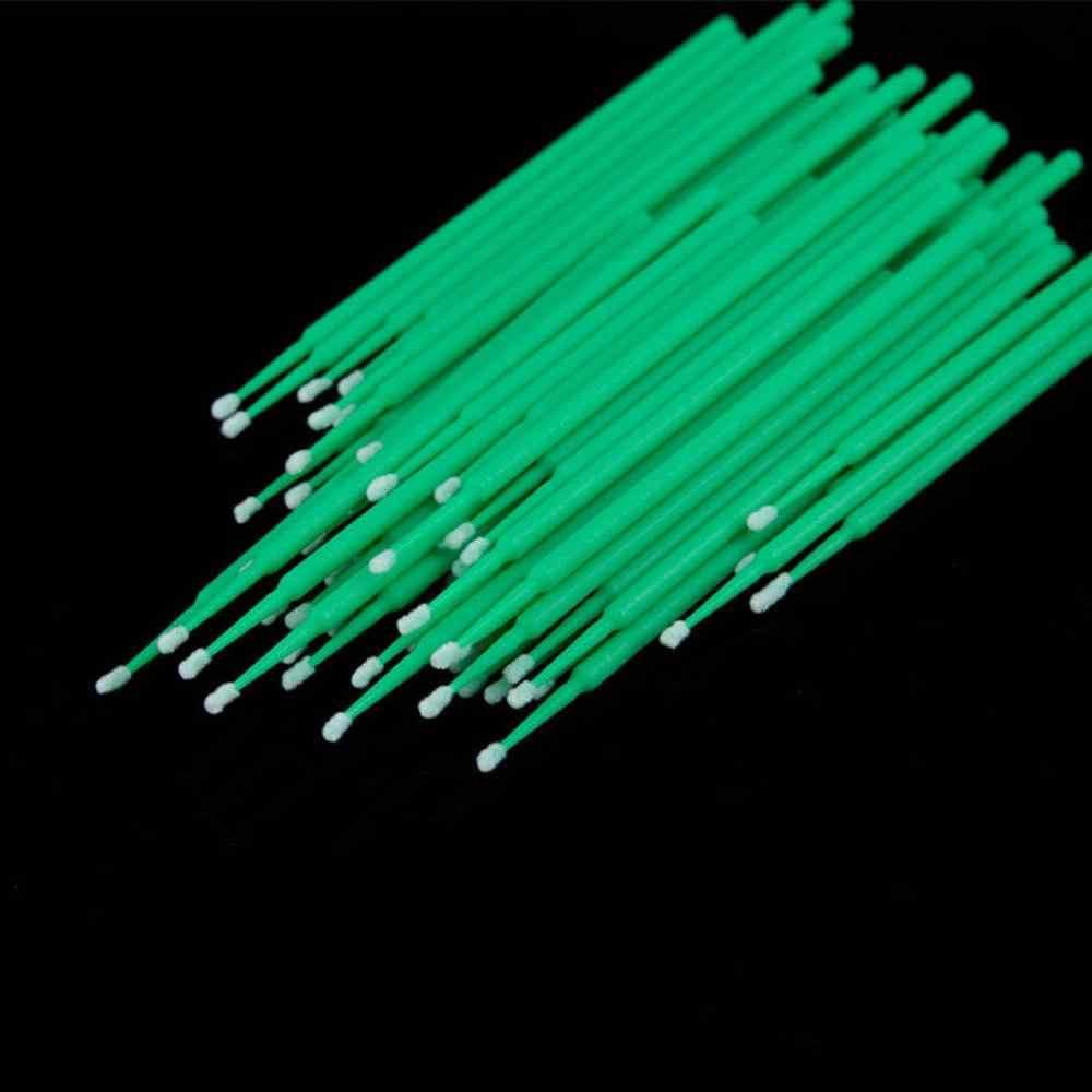 100 قطعة 0.25/0.20/0.15 سنتيمتر المتاح مايكرو فرشاة الأسنان قضيب أعواد قطنية ماسكارا إزالة أدوات مسحات الوشم microفرش عدة