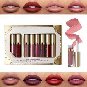 HOT 8Pcs Professional Lip Glaz