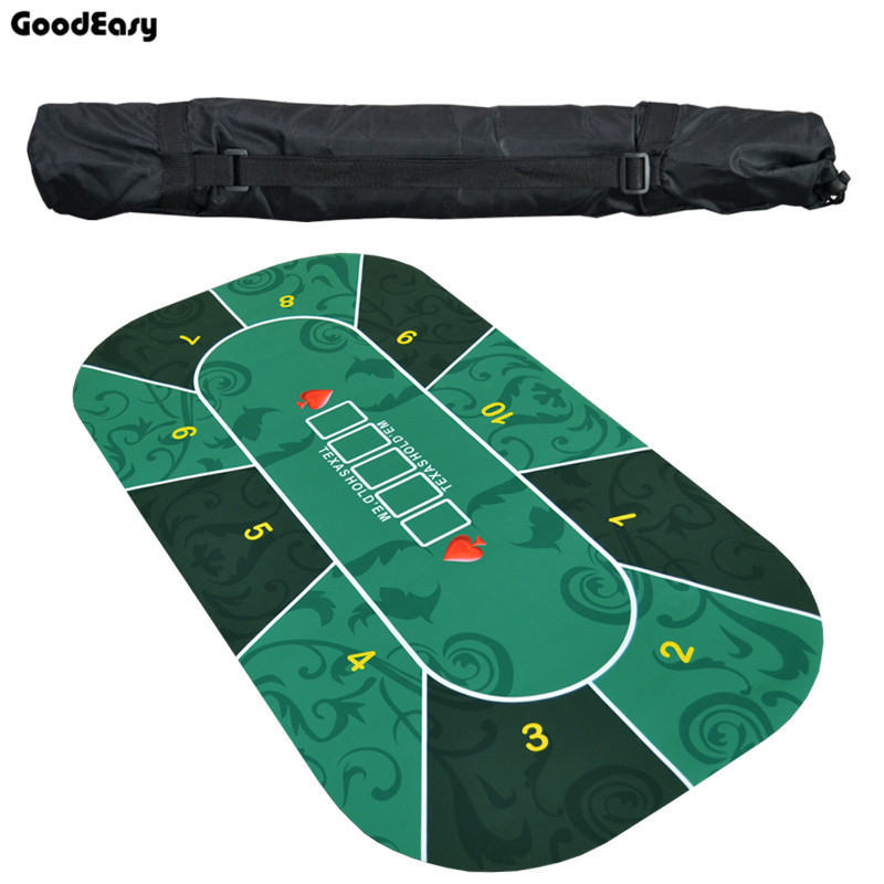 1.2m Deluxe Suede Rubber Texas Hold'em Poker Tablecloth With Flower Pattern Casino Poker Set Board Game Mat Poker Accessory