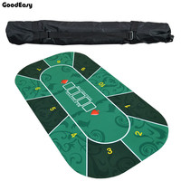 1.2m Deluxe Suede Rubber Texas Hold\'em Poker Tablecloth with Flower Pattern Casino Poker Set Board Game Mat Poker Accessory