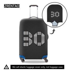 black suitcase cover