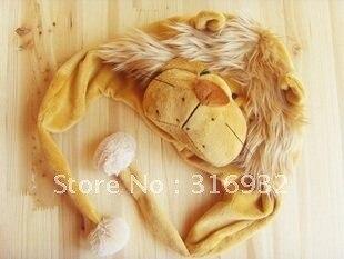 J4 Cartoon Lion Animal Hat Warm Winter plush hat