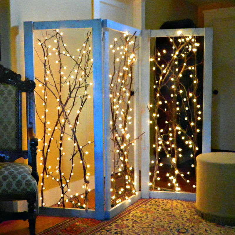 5M 50LED LED String Lights Outdoor Christmas Fairy Lights Warm White Silver Wire LED Starry Lights DC 12V Wedding Decoration in LED String from Lights Lighting