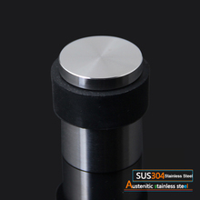High Quality 2PCS 304 Stainless Steel Door Stopper Stop Doorstops Rubber Floor Protector недорого
