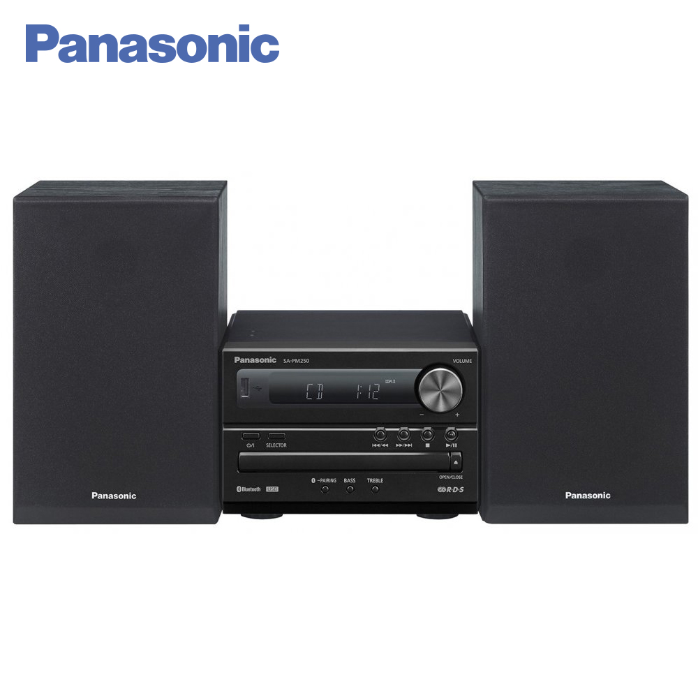 Panasonic CD Players SC-PM250EE-K Vinyl cd player portable Music Center Cassette player Radio Boombox panasonic cd players sc hc400ee k vinyl cd player portable music center cassette player radio boombox