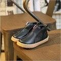 2017 Otoño Invierno Zapatos de Los Niños Niñas Botas de Invierno Clásico niños Zapatos de Estilo Británico Martin Botas Para Niñas de 3 Colores MHYONS