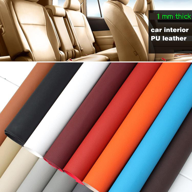 1mm Thick PU Leather Faux Leather Fabric Imitation Leather Sofa Car  Interior Upholstery Cushion Seat Furniture