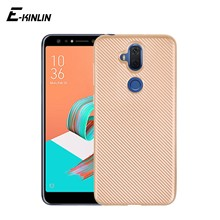 Carbon Fiber Texture Phone Protective Case For Asus ZenFone 5z 5Q 5 Lite Selfie ZS620KL ZE620KL ZC600KL Soft Silicone Back Cover(China)