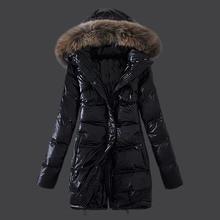 Korean Women Outerwear Long Winter Coats White Duck Down/Goose Down Jackets Fashion Maternity Thick Warm Parka Fox fur hooded 4X
