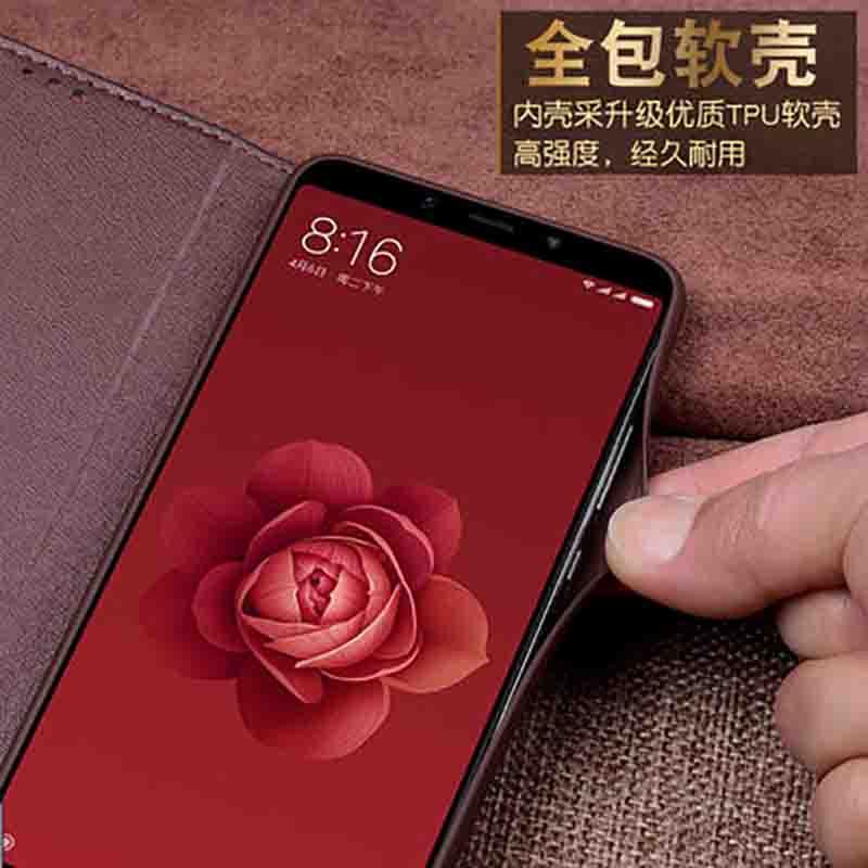 En Cuir véritable étui de téléphone pour xiaomi mi 6X6 X housse arrière Pour xiaomi mi 6X6 X étui coque arrière - 3