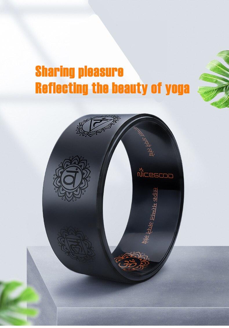 Ouro blalck yoga roda plutônio yoga círculo