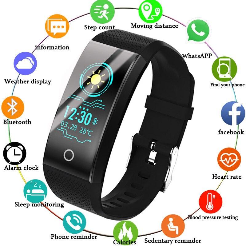 BANGWEI Montre Smart Watch Femmes Santé Surveillance LED Couleur Écran Informations Rappel Podomètre IP68 Étanche Intelligent Montre De Sport