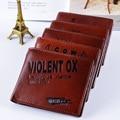 Vintage Coin Purse Brand Men Wallets Cash Wallet and Purse Letter Animal Prints Mini Zipper Hasp Short Design Men Purse Bag