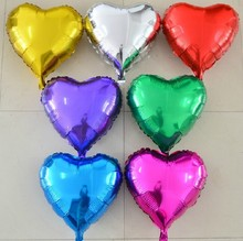 5s s 10inch Aluminum Foil Balloons ,Heart Shape balloons , Wedding /Party decoration