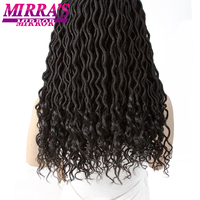 Mirra's Mirror 18 Goddess Locs Crochet Hair 6pcs Goddess Locs Braiding Hair Synthetic Hair Extension 70g/Pack 24Strands