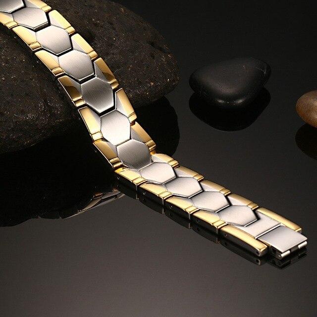 Купить магнитные мужские браслеты из нержавеющей стали высокого качества