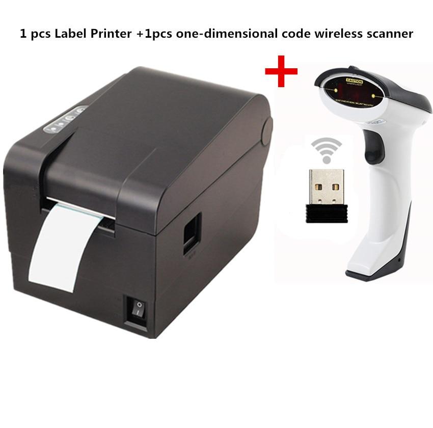 Подарок 1 шт беспроводной сканер + одежда тег 58 мм Термальность штрих-код стикера принтера принтер qr-код невысыхающая принтер этикеток