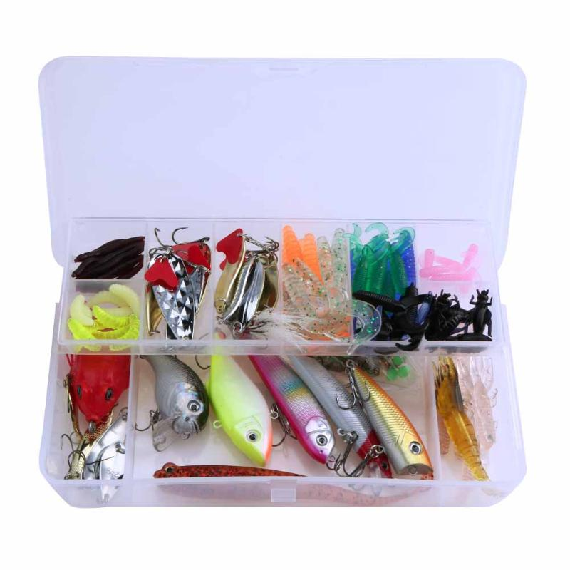 190pcs Fishing Lures Set Mixed Color Size Fishing Tackle Carp Soft Lure Hard Baits Artificial Bait Hooks Fishing Kit Wholesale new road ya bait 101 all round swimming gear fishing lure valuable package lures set kit soft and hard lure hooks