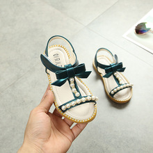 2019 Girls Sandals Bowknot Bling Sequins Princess Shoes Cute Sandal For Summer Sandalias Fille