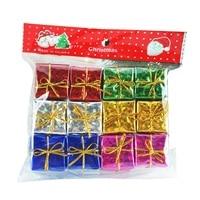 Natal 12 pc mini caixa de presente decorações da árvore de natal ornamentos de decorações de ano novo ornamentos de suspensão adornos de navidad|Enfeites p/ árvore de Natal|Casa e Jardim -