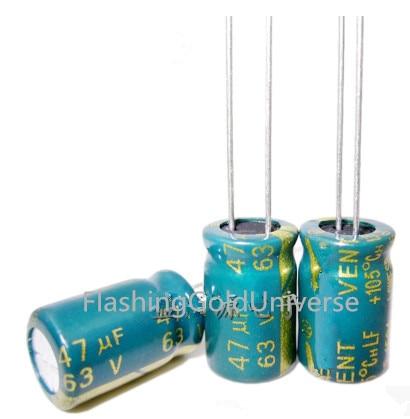 63V 47UF 47UF 63V  Electrolytic Capacitors Size:  8*12 6*12 Best Quality New Origina