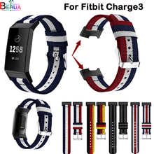 For Fitbit charge3 smart Nylon sport watchband bands Wristband replace for Fitness watch Accessories