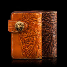 Vintage Women Man Bag Long Wallet Genuine Leather Originality Handmade Carving Japan Wallet Card Money Holder Clutch Wallets