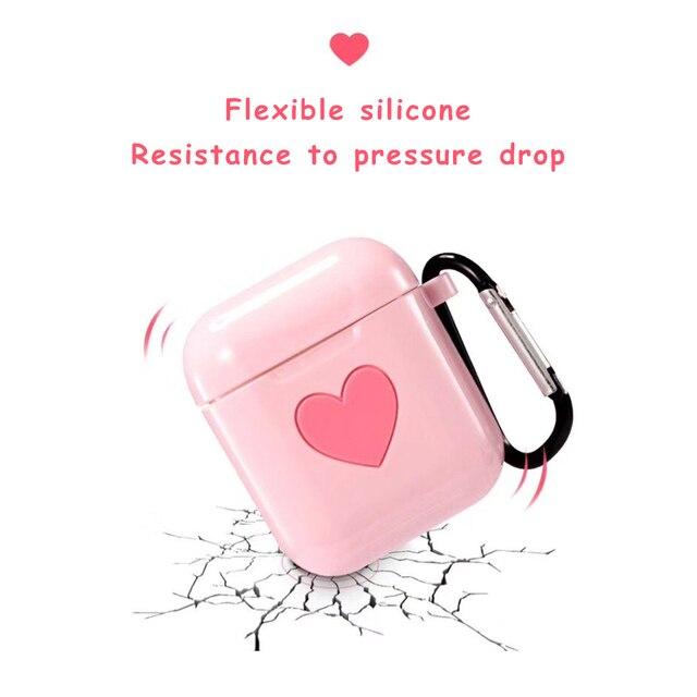 Love Heart TPU AirPod Case Cover 2