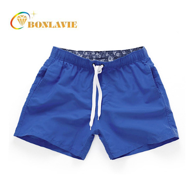 Swimming Trunks Men Beach 2017 Solid Quick Dry Shorts Gay Boxer Plus Size Swimwear Men Surf Board Beach Wear 14 colors