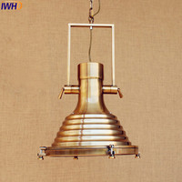 Iwhd American Retro Винтаж лампы Lampen дома Освещение Стиль Лофт Промышленные светильник Подвесной Свет Lamparas colgantes