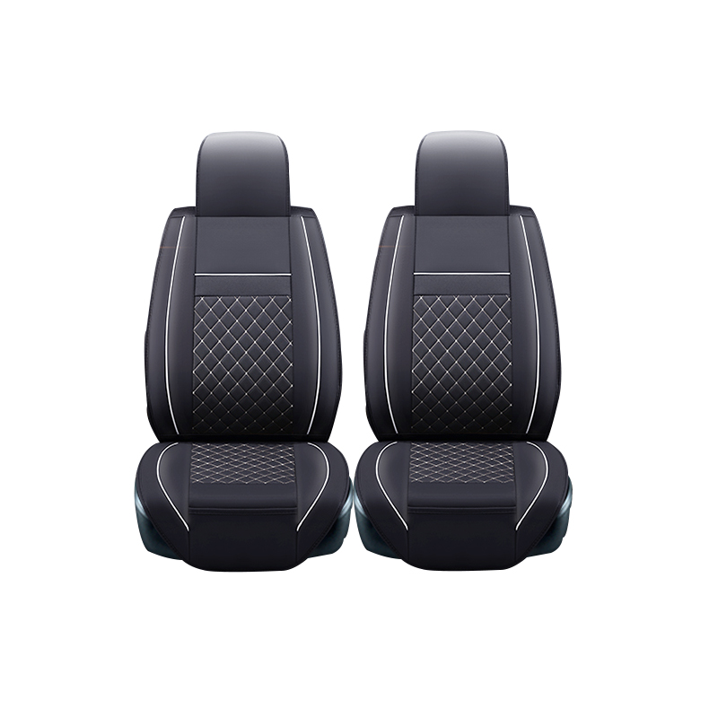 ФОТО (2 front) Leather Car Seat Cover For volkswagen vw passat b5 b6 polo golf tiguan 5 6 7 jetta touran touareg sticker accessories