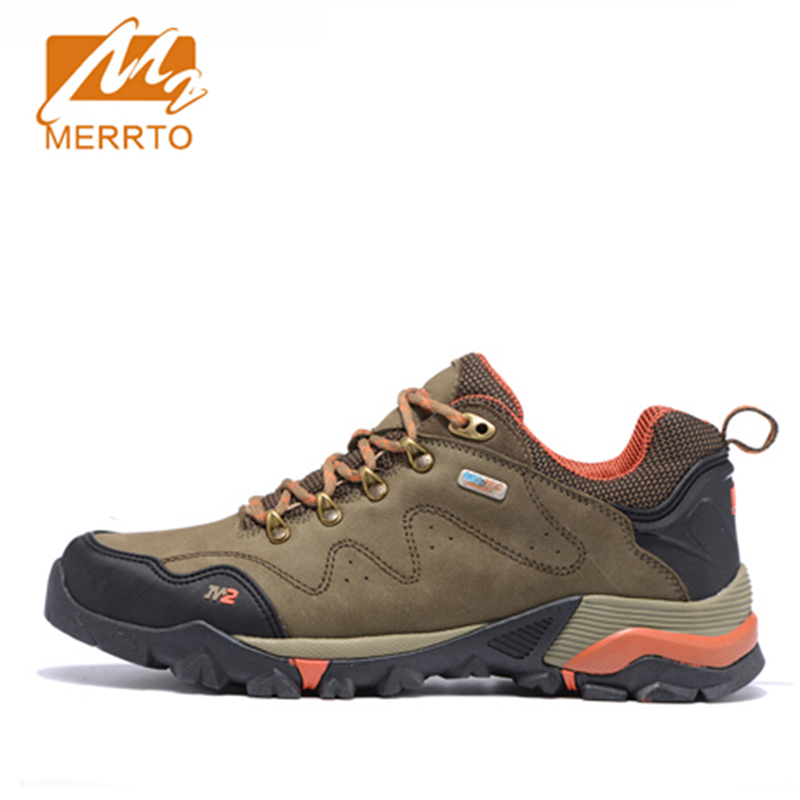 ФОТО 2017 Merrto Lovers Walking Shoes M2-TEC Waterproof Outdoor Shoes Full-grain leather For Lovers Free Shipping MT18558/MT18557