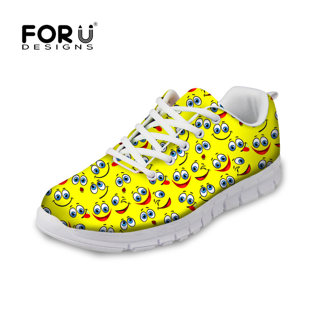 Funny Emoji Cotton Lightweight Breathable Casual Sports Shoes Fashion Sneakers Shoes