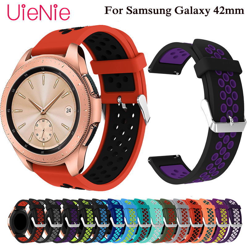 20mm silicone band For Samsung Gear S2 watch Galaxy 42mm smart wristband Watch Active