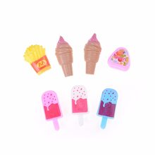 7 Pcs/set cute Mini Ice Cream Popsicle Potato Chips for Doll House Food Sugar for Dollhouse Decor girl gift Hot Sale Model(China)