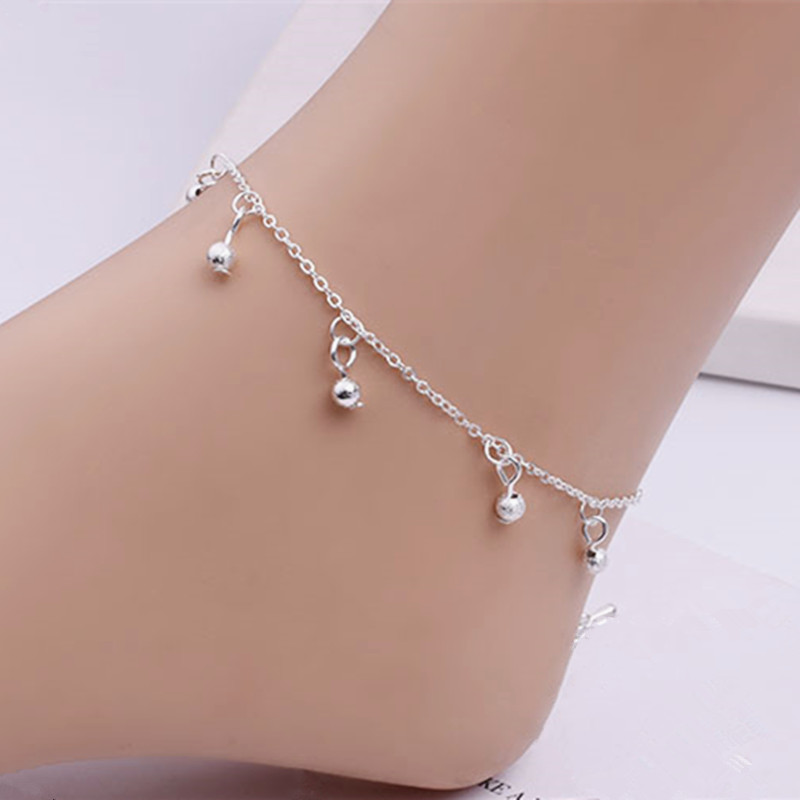 Fine Jewelry 2019 New Style Anklet Ankle Silver Mesh Chain Delicate New