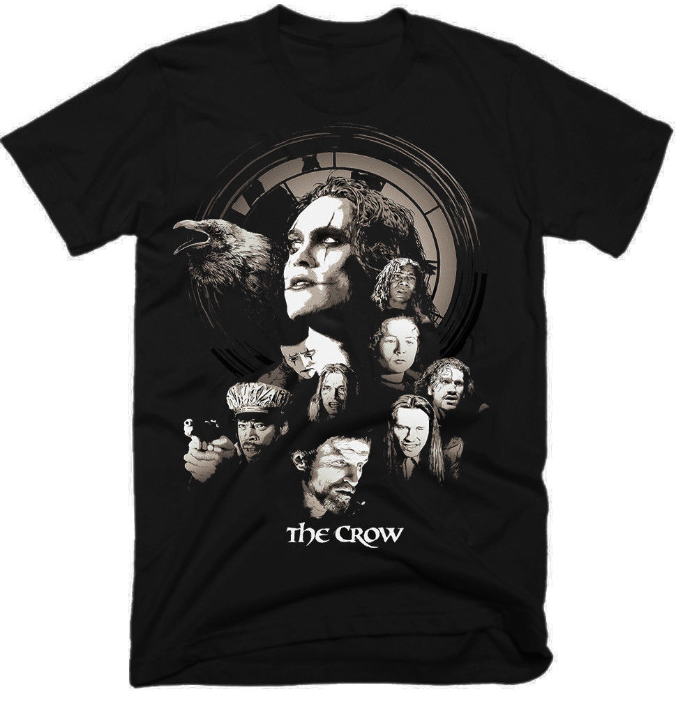 The Crow Movie Men'S Funny T Shirt Hip Hop Streetwear Tshirts Homme 2019 T Shirts Short Sleeves T-Shirts For Men