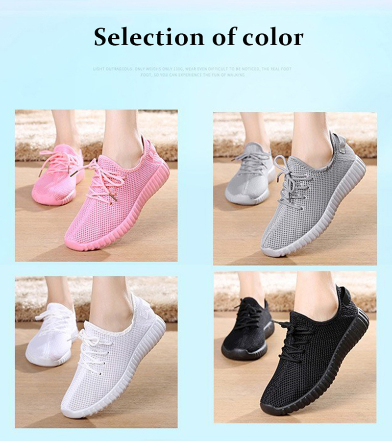 Mesh casual shoes women Breathable Lace Up white sneakers female soft lightweight summer flat Women Vulcanize Shoes 2019 VT243 (1)