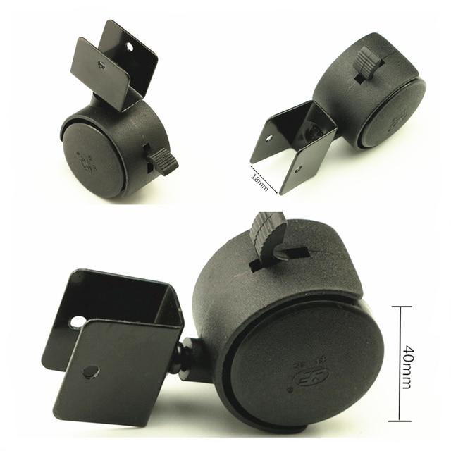 4 teile satz schwarz 40mm ersatz lenkrollen m bel b rostuhl kinderbett sofa bremse kunststoff. Black Bedroom Furniture Sets. Home Design Ideas