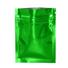 Grip Seal Green Glossy Zipper Top Aluminum Foil Package Pouch Mylar Packing Bag Self Food Grade Storage 100pcs/lot