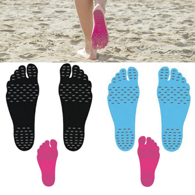 6 Pairs Feet Pads Anti- Slip slica gel soles on hot sand Feet Pads Sticky Adhesive swimming Feet sticker