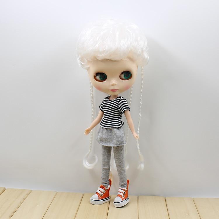 Neo Blyth Nude doll three colors short hair with braids cute fashion BJD Blyth dolls for girls gifts