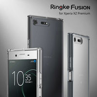 Ringke Fusion Case For Sony Xperia XZ Premium Crystal Clear PC Back Cover And Soft TPU