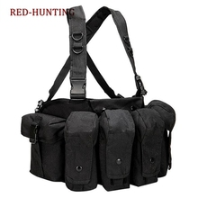 Tactical Vest Magazine Chest Rig Airsoft Carrier Combat Military Black Outdoor Camouflage