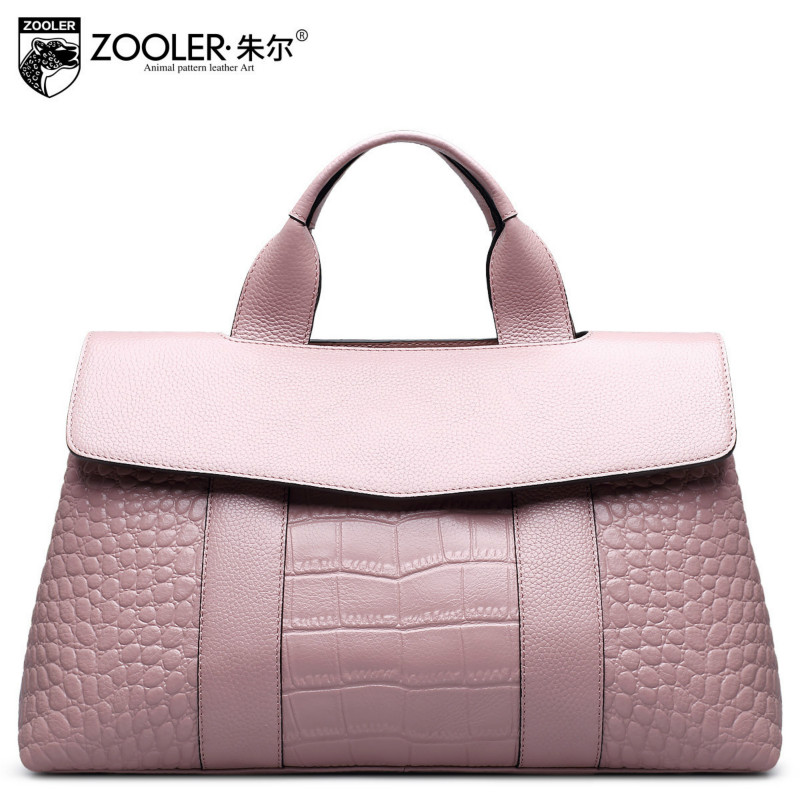 Zooler Socialite Large Capacity Crocodile Pattern Genuine Leather Handbag Ladies Tote Bags For Women Messenger Bag Sac A Main