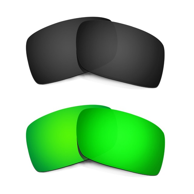 HKUCO Mens Replacement Lenses For Oakley X Squared Sunglasses Emerald Green Polarized CdPzB9