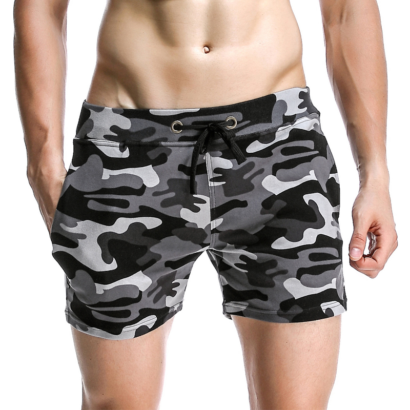 New Camouflage Shorts Men Low Waist Casual Mens board short Trunks Comfort Homewear Fitness Workout Military male shorts