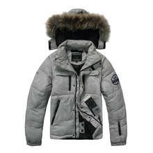 2020 High Quality Winter Down Jacket Men Casual Thick Warm Down Coats 90% White Duck Down Brand Hooded Winter Down Jackets Man men s plus size slim fit down jacket 2019 winter white duck down splicing hooded jacket men skinny outdoors down jackets coats